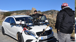 Rigging the car in the Sierra de Gredos